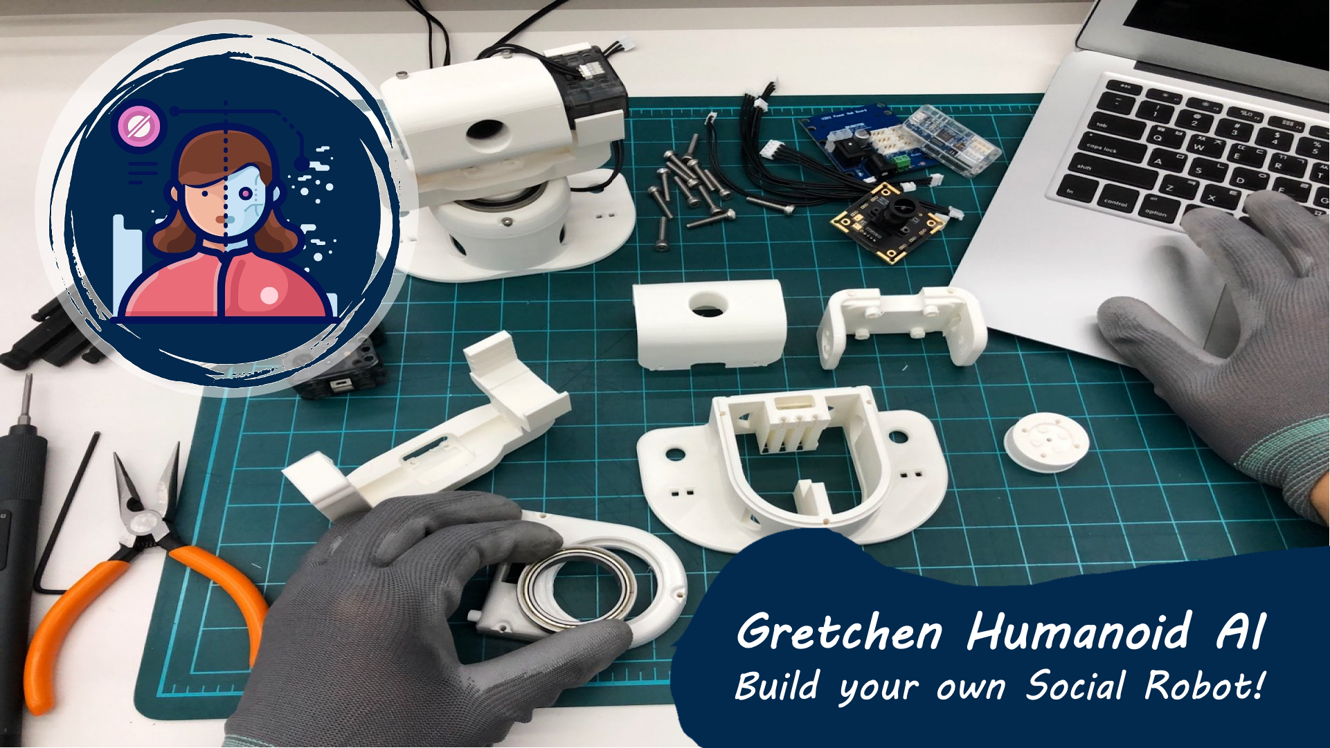 Gretchen Humanoid AI (Social Robot) Program in 4 Day Sprints